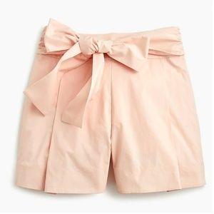 J crew Tie-waist short in cotton poplin